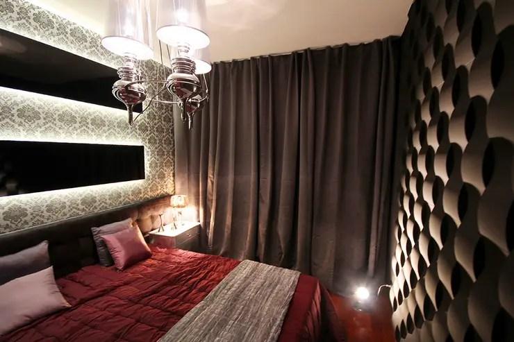 Schlafzimmer Wandgestaltung mit 3D Effekt und Betonlook by Loft
