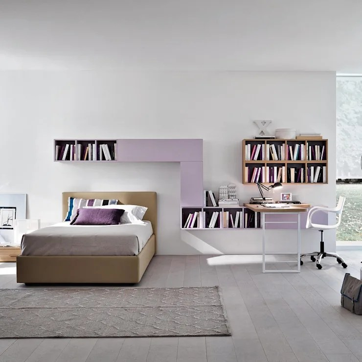 kid living room furniture yellow and gray kids bedroom sets by my italian homify lilac girl s study set siluetto nursery