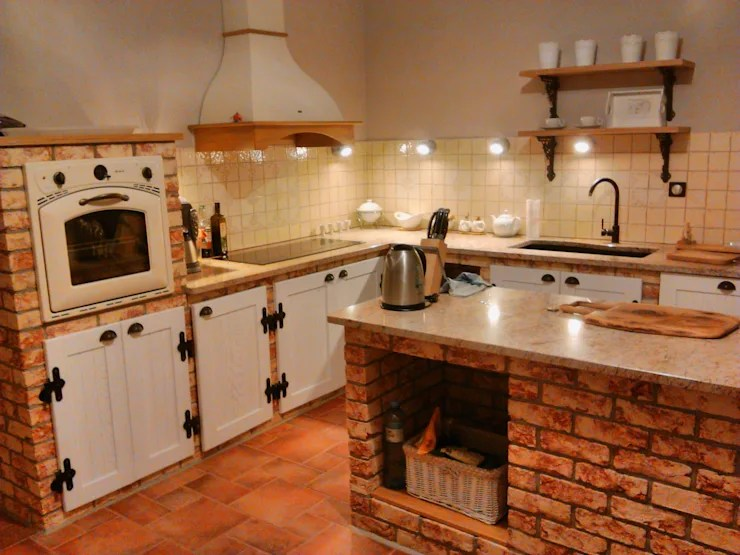 Cucina in Mattoni 22 Idee Spettacolari