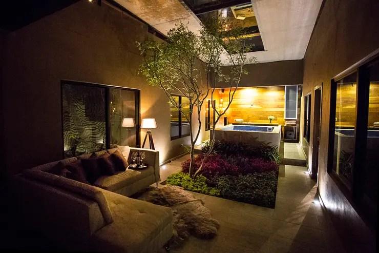 Casas con jardn interior opcin natural para decorar tu