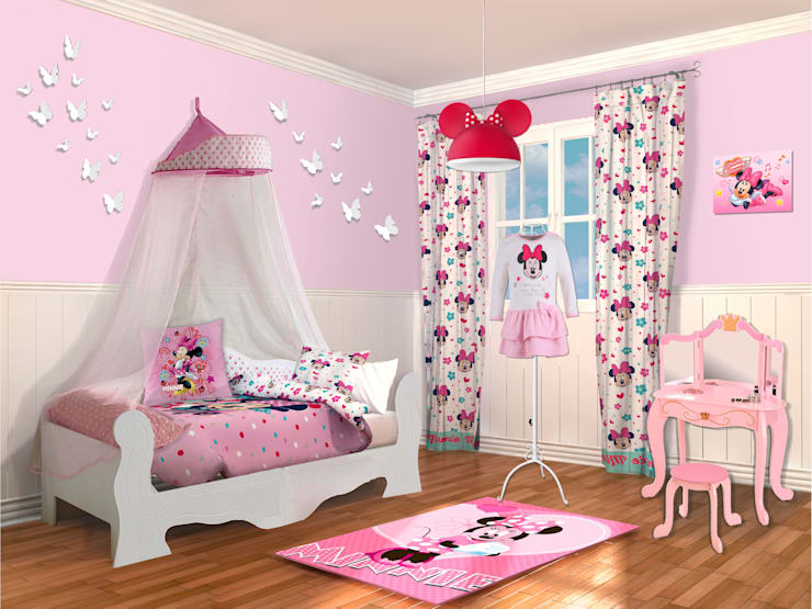 Diseo dormitorio infantil nia minnie de lo quiero en mi