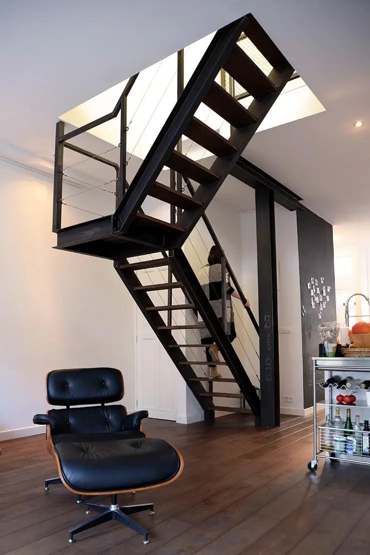Verbouwing woning en ontwerp nieuwe stalen trap door NOV