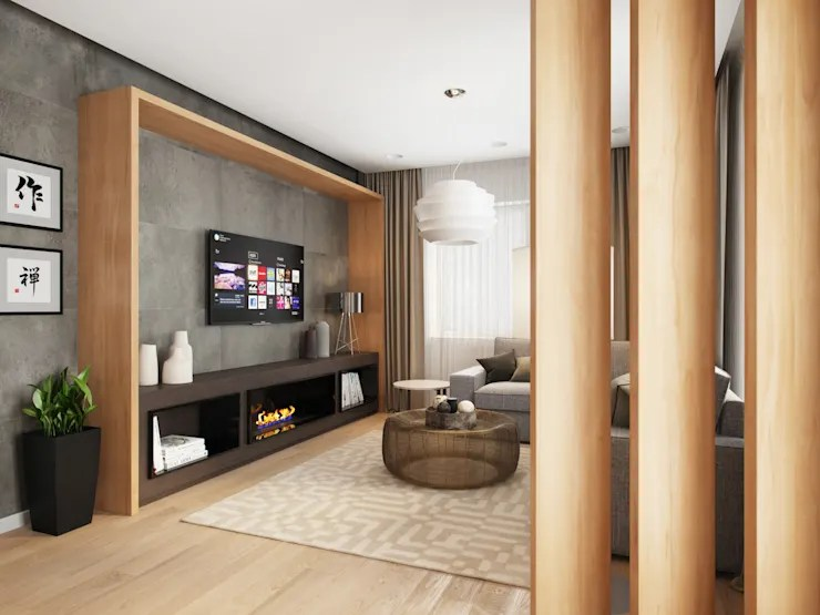 pictures of grey living room walls couches in rooms working with colour ideas house tomsk by evgeny belyaev design