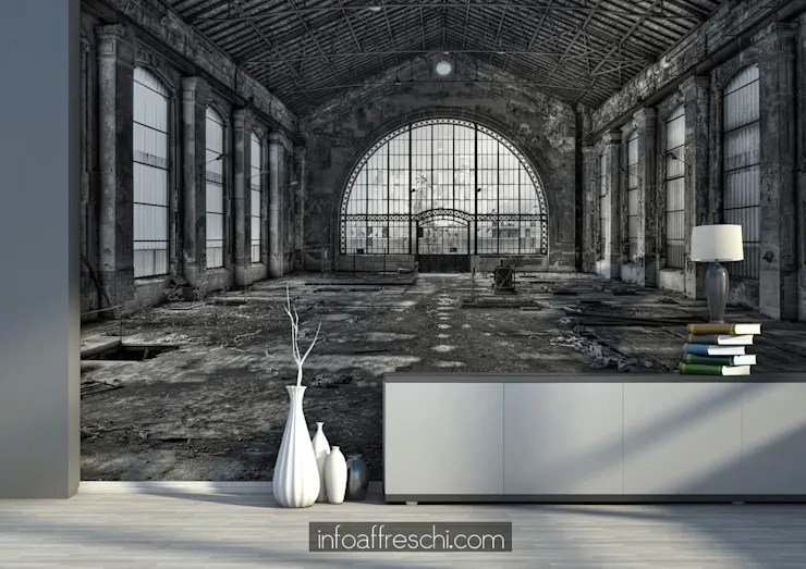 industrial wall murals by
