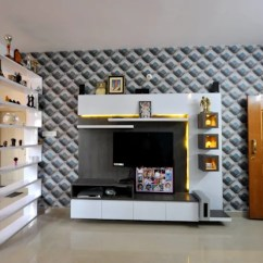 Interior Design Ideas Living Room Tv Unit Wall Tiles Philippines By Decorators In Bangalore Kriyartive