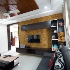 Interior Design Ideas Living Room Tv Unit Rooms With Dark Wood Furniture By Decorators In Bangalore Kriyartive