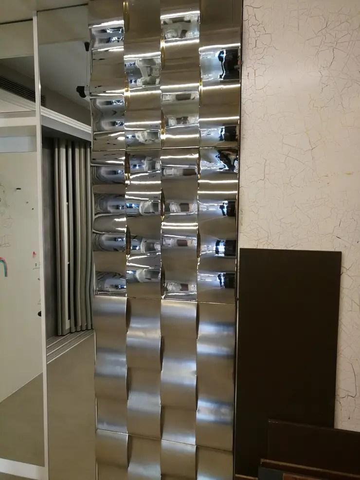3D Wandpaneele aus Gips belegt mit Blattmetall by Loft Design System