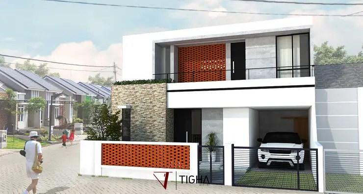 3 Desain Minimalis Unik Rumah 2 Lantai di Gresik