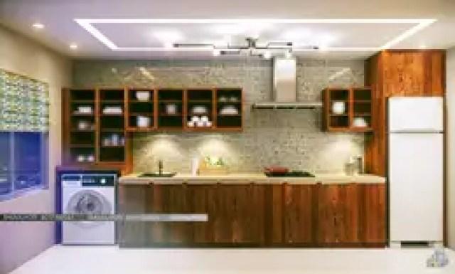3D VISUALIZATION: modern Kitchen by FREELANCE