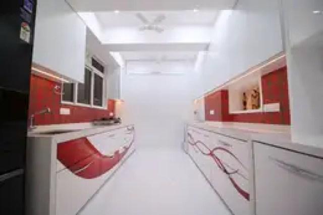 kitchen: modern Kitchen by Three Interiors