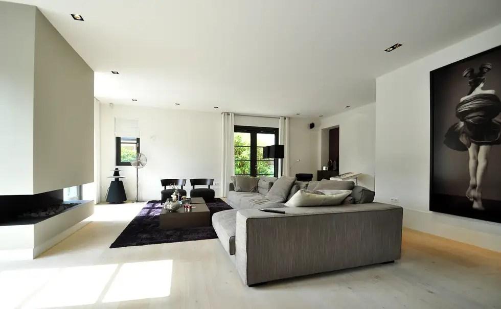 Interieur  woonkamer  modern landhuis te vinkeveen