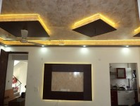 P O False Ceiling Wallpaper