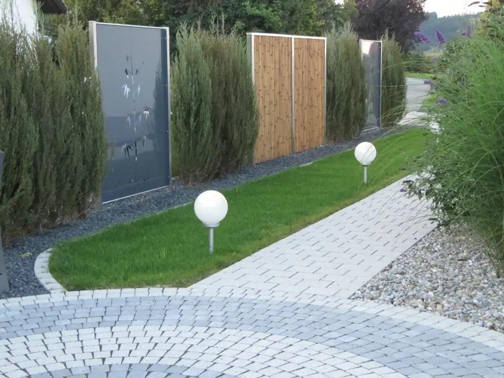 Moderner Garten Bilder Edelstahl Und Aluminium Sichtschutz Homify