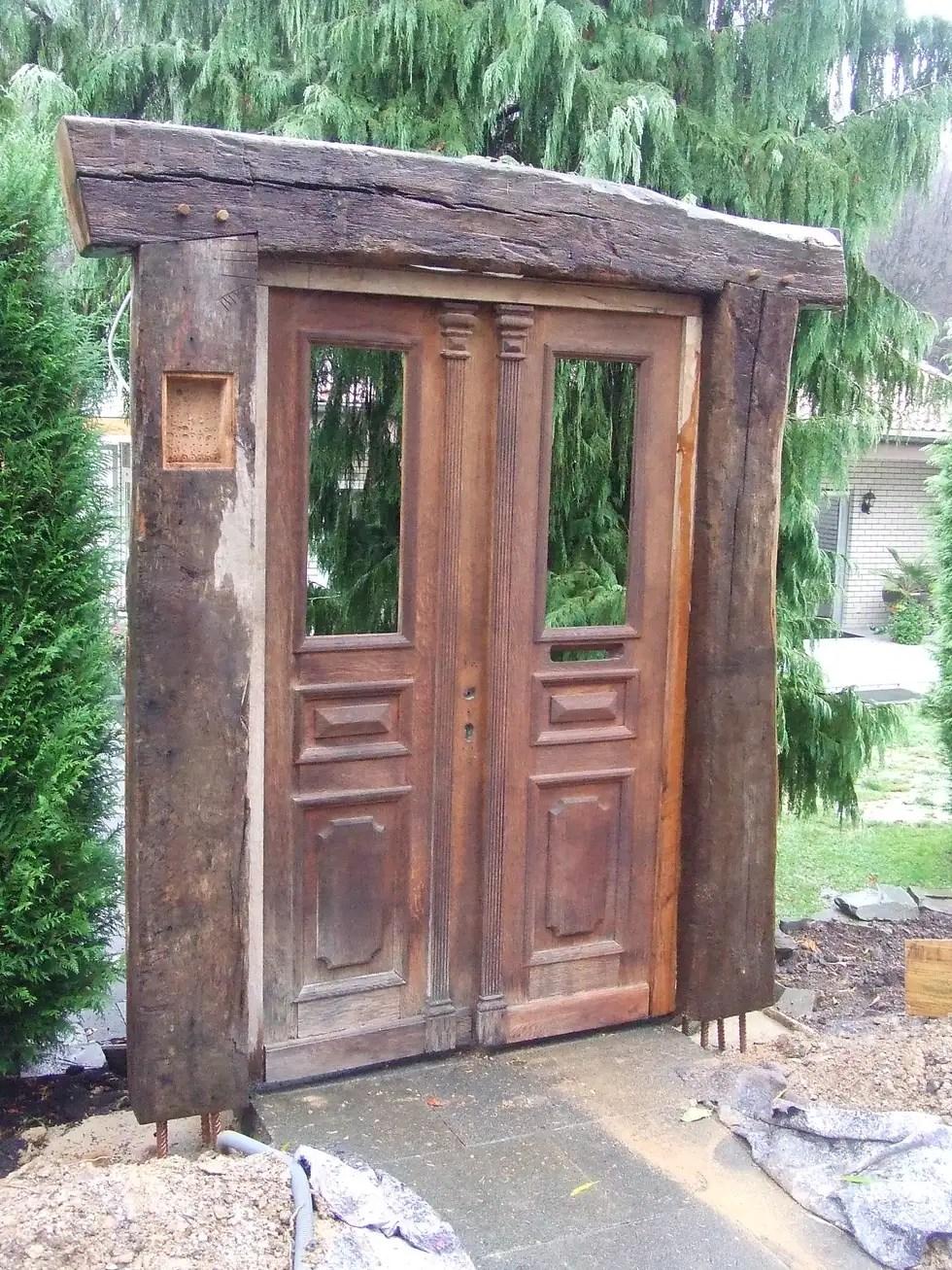 Garten gestaltung, fachwerk bau, recycled holz