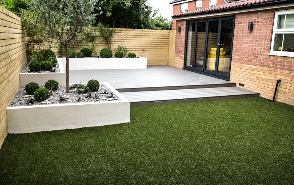 Small, Low Maintenance Garden: Minimalistic Garden By