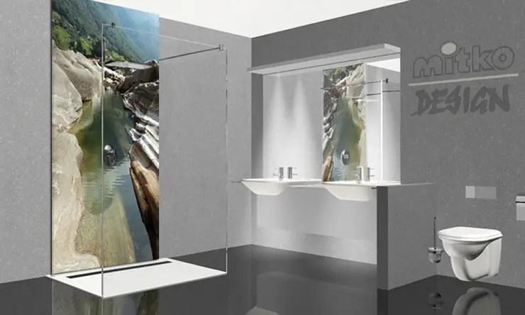 Glasbild Badezimmer : 1 Glasbilder Im Bad Von Mitko Design Homify 1 ...