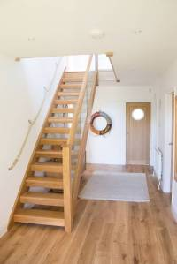 Oak Open Plan Staircase with Glass Balustrade by StairBox ...