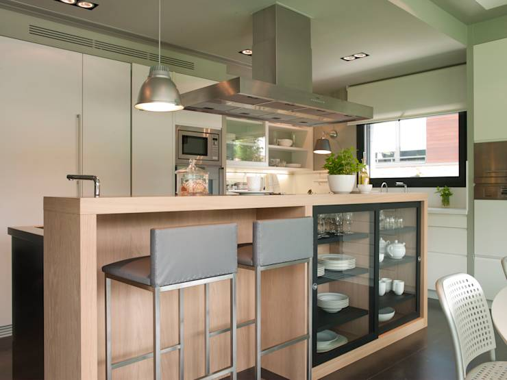 10 maravillosas barras de cocina hechas de madera