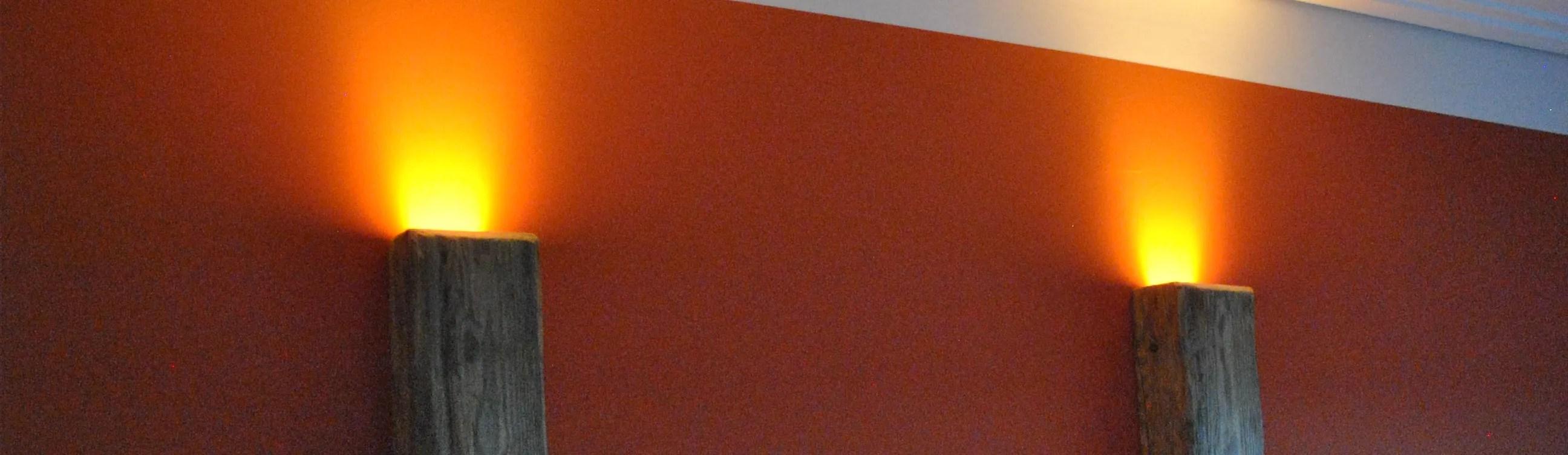 Altholz Wandlampen mit LED von AltholzIdeen  homify