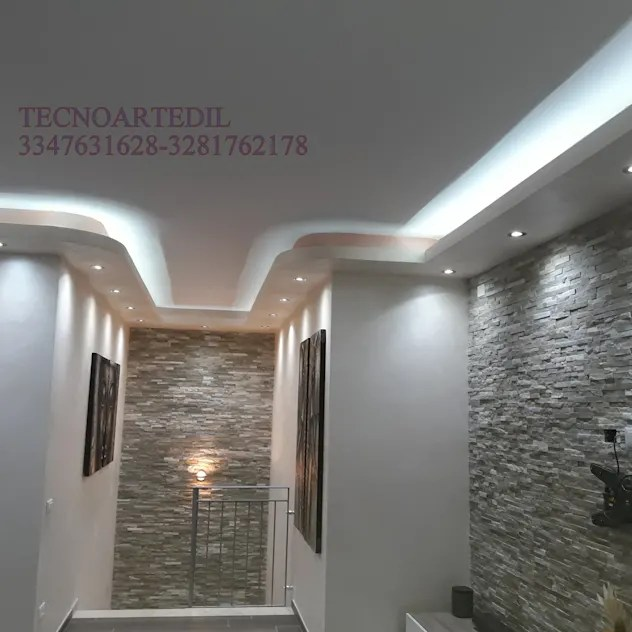 modern Corridor, hallway & stairs by TecnoArtEdil