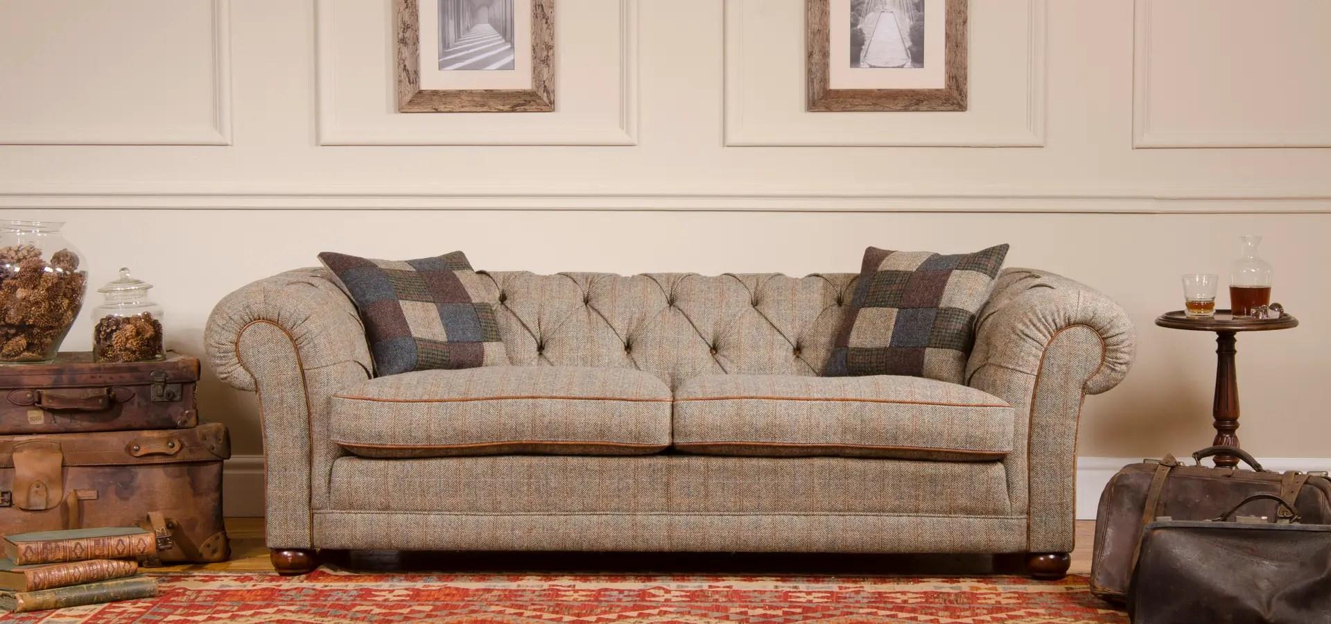 harris tweed bowmore midi sofa showrooms west london classic by tetrad ltd homify