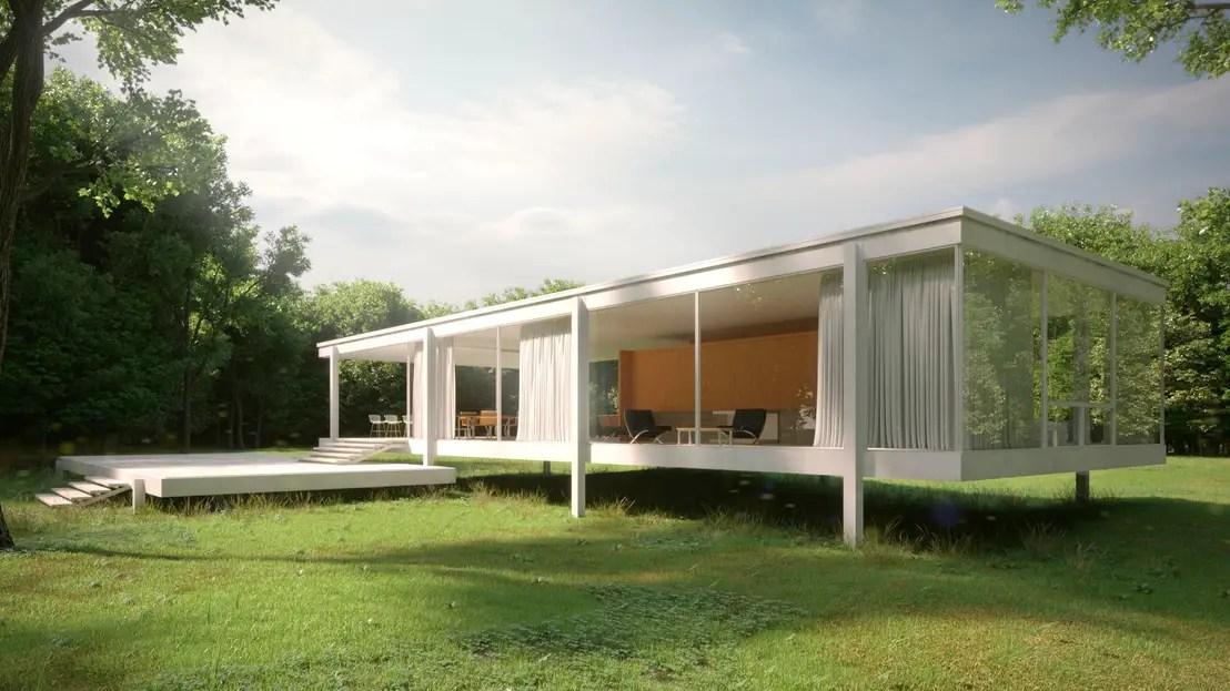 La Casa Farnsworth Planos