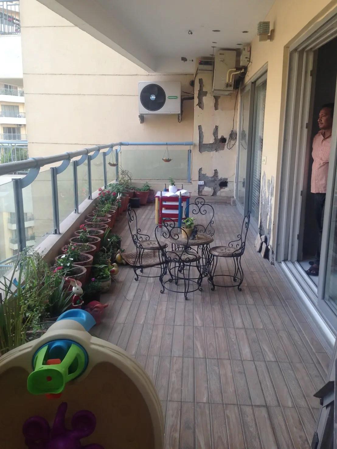 VorherNachher Ein Balkon wird traumhaft grn