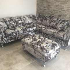 Grey Crushed Velvet Chair Covers Wombat Accessories Corner Chesterfield Sofa By Sofas In