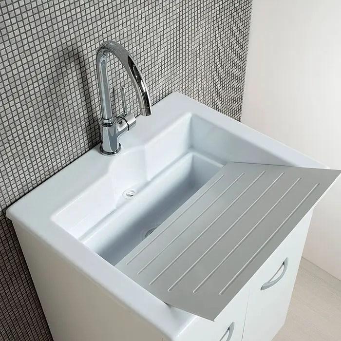 Mobile lavanderia 60x50 Zeus con vasca lavatoio in Abs
