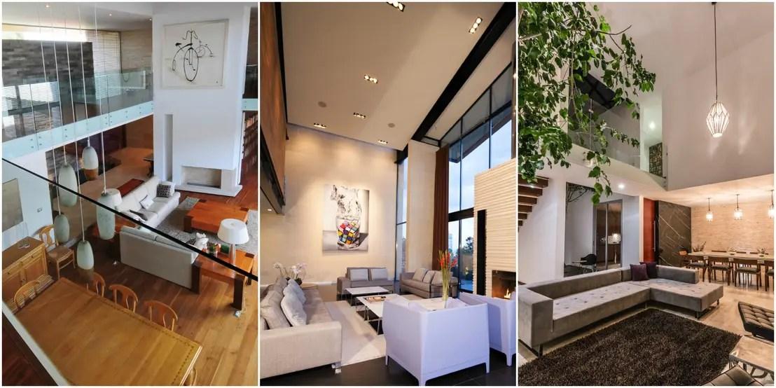 16 salas de doble altura modernas y preciosas