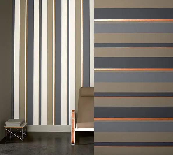 Papeles pintados decoracion aprovechar hueco bajo - Papeles pintados rayas verticales ...