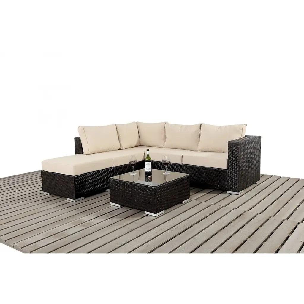 rattan effect garden corner sofa set chaise with storage by bonsoni homify