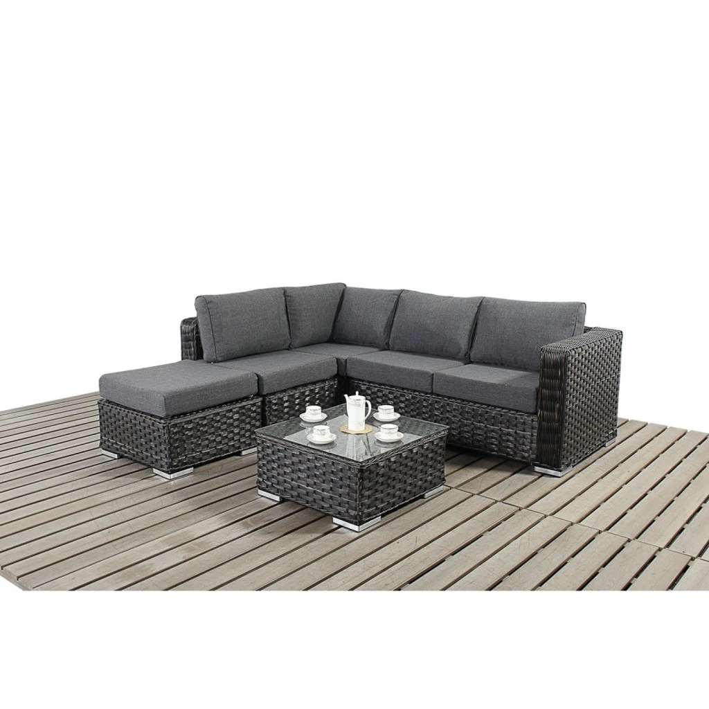 3 seater rattan effect mini corner sofa black how to clean your white leather interior design ideas architecture and renovating photos