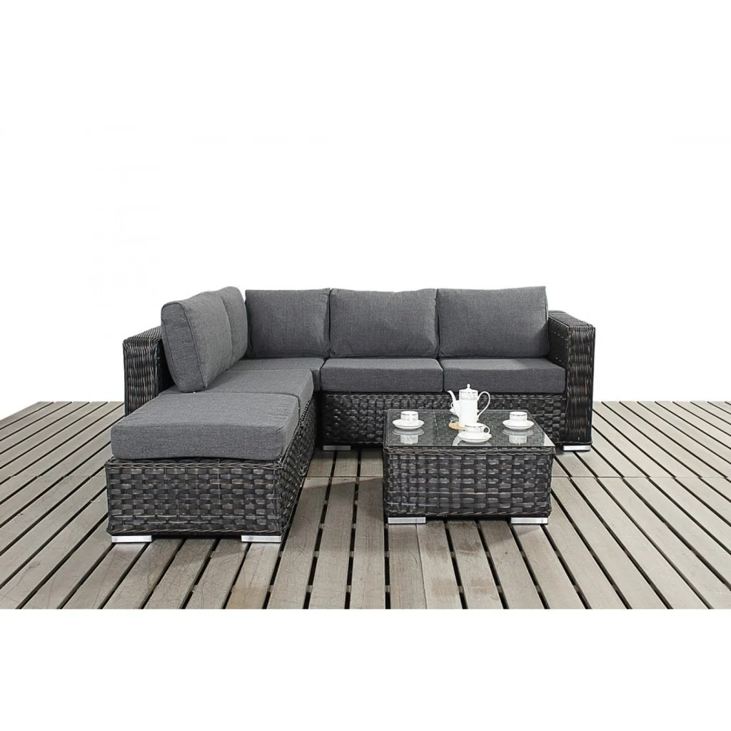 3 seater rattan effect mini corner sofa black one cushion or two interior design ideas architecture and renovating photos