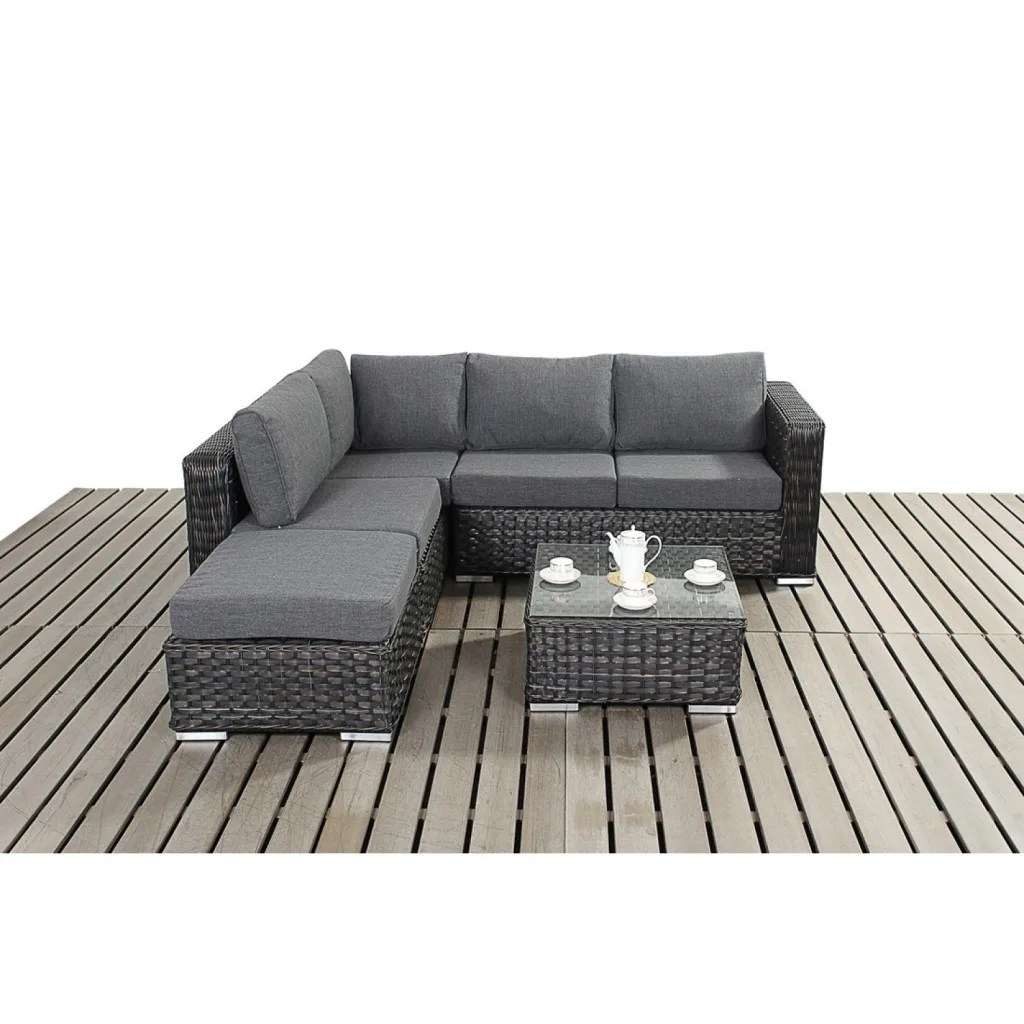 3 seater rattan effect mini corner sofa black cheap bed couches garden by bonsoni homify