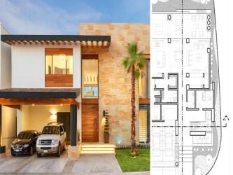 5 casas modernas con sus planos que te inspirarán a diseñar la tuya homify
