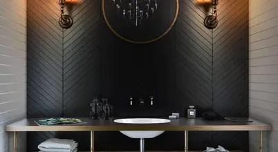 Siyah Ve Tonlarının Kullanıldığı 10 şık Ve Elegan Banyo Modeli