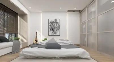 งานต่อเติมห้องนอนขนาด 44 ตร.ม.เน้นโทนสีขาวและไม้สีอ่อน