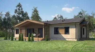 Проект частного дома в стиле американского бунгало с планировкой
