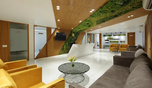 An Office Space In Ahmedabad With Perfect Balance Of Design