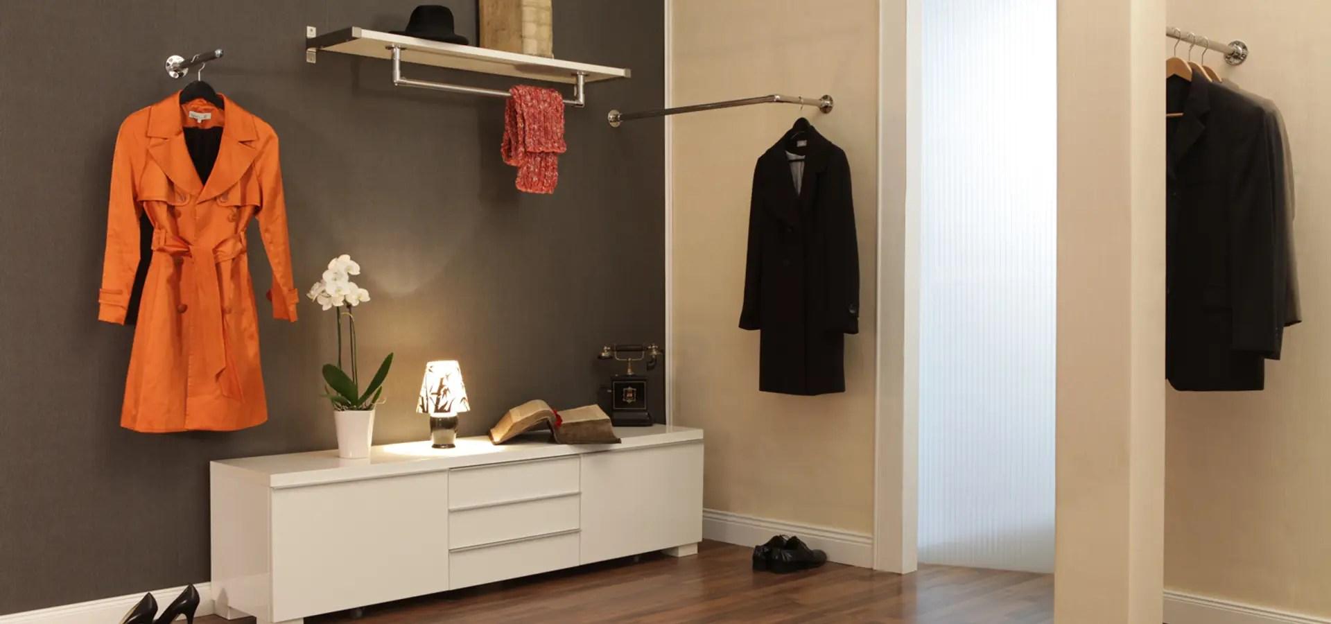 Garderobenstangen fr Flur Ankleidezimmer oder