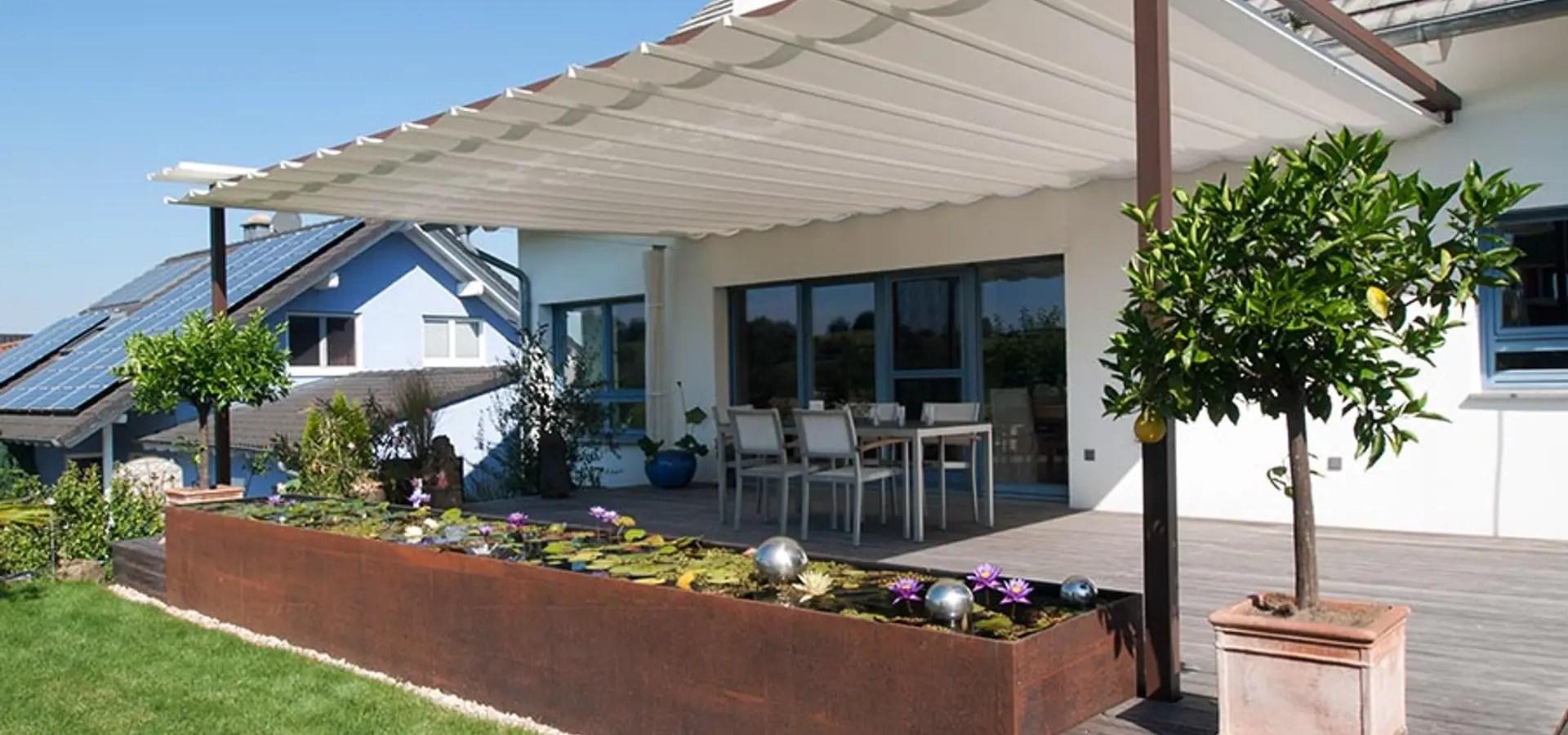 Uberdachung Terrasse Mit Sonnenschutz