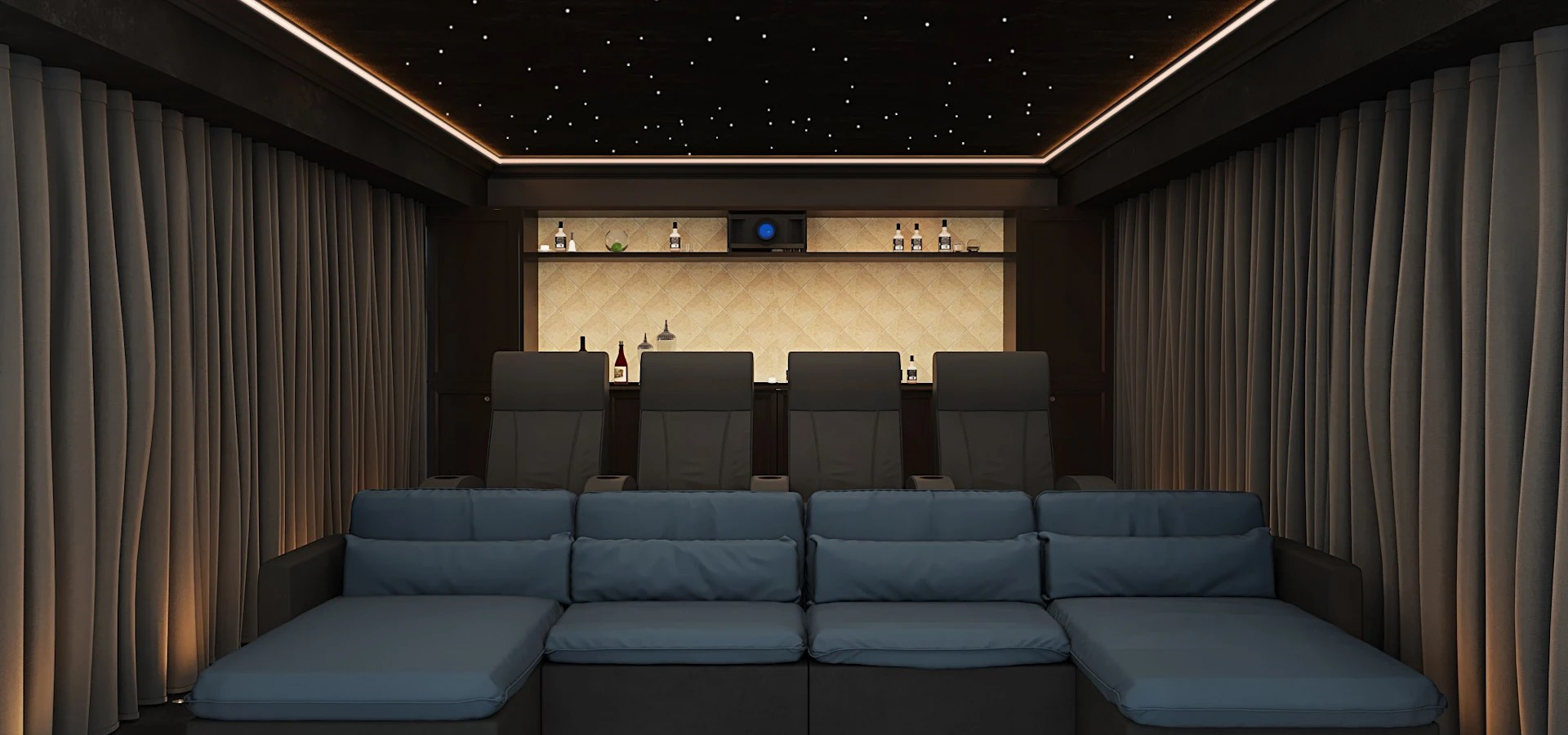 Home Cinema Room Surrey UK par Custom Controls  homify