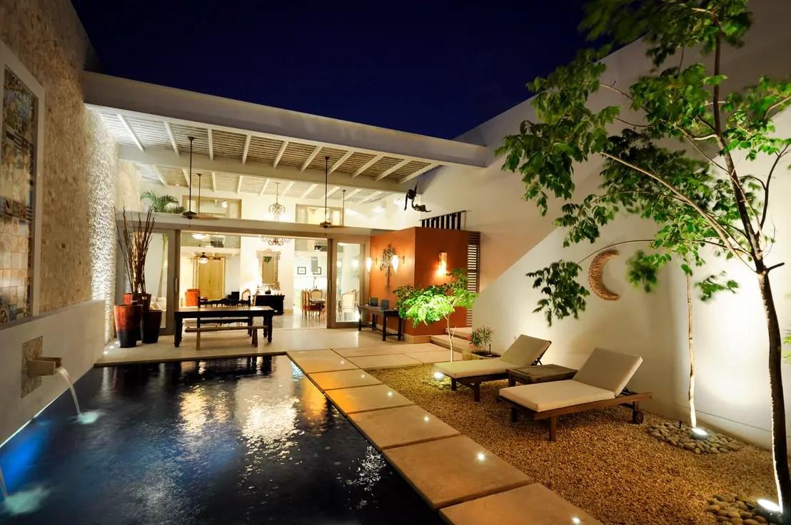 Iluminacin de exteriores 6 ideas para casas modernas