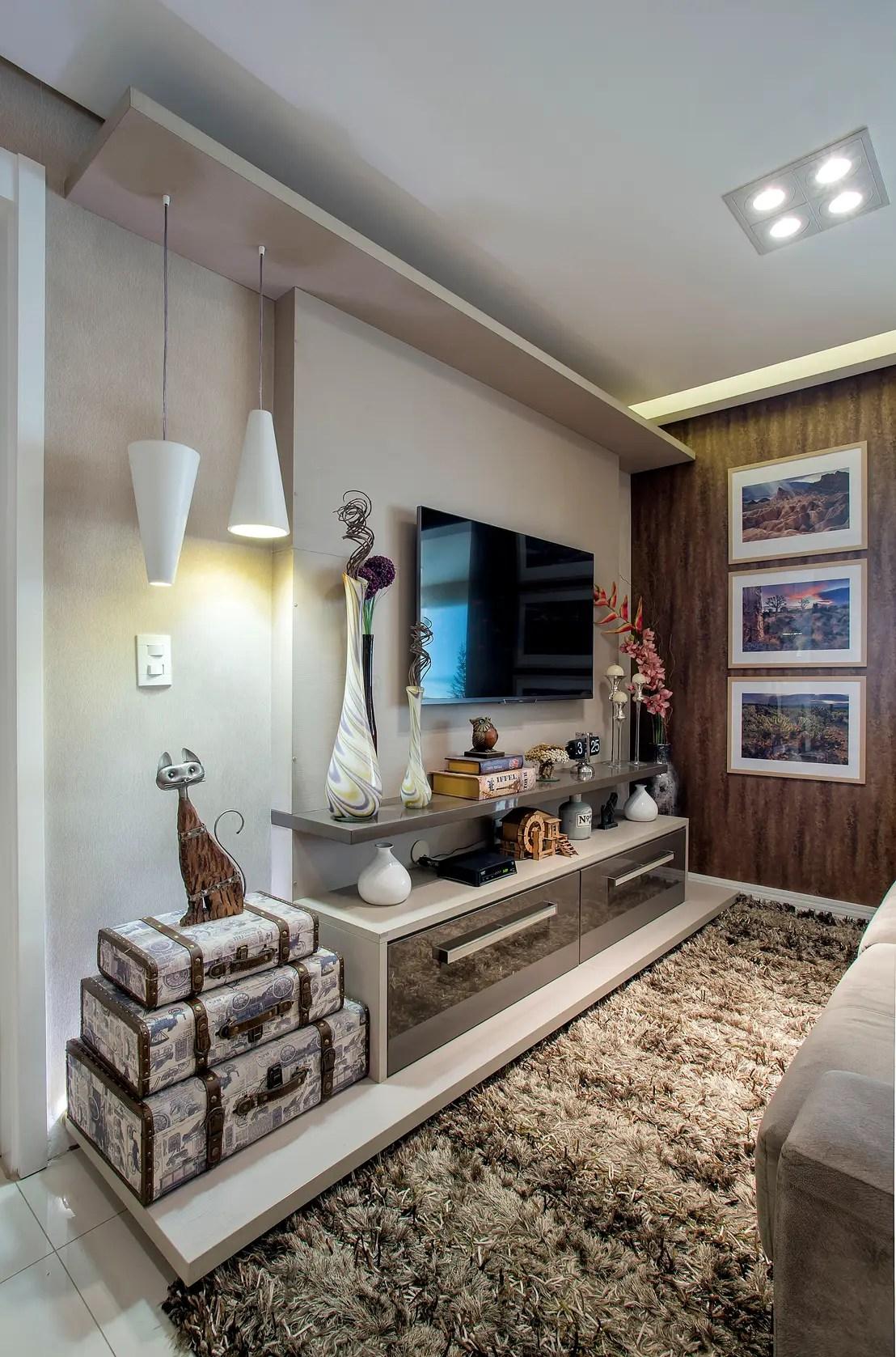 7 Formas preciosas de ubicar la tele en el living de casa
