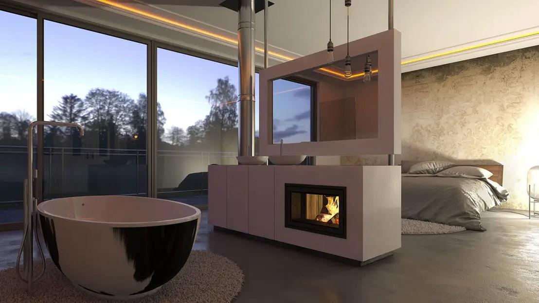 LuxusFeeling zu Hause Integriert das Bad ins Schlafzimmer
