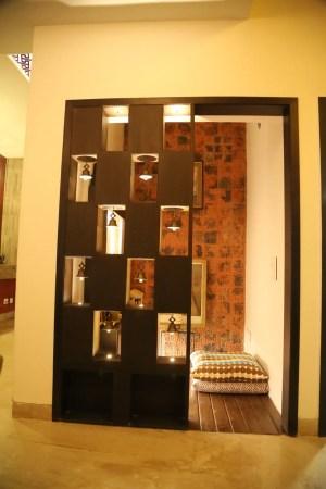 pooja modern interior designs rooms cut indian bells homify residence area space box corridor consultants hallway aayam