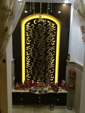 pooja mandir walls interior homify rooms modern silversea
