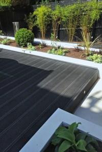 Contemporary Terraced 'Black & White' Garden by Gardenplan