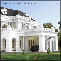 Colonial Style Luxury Indian Home Design Leading